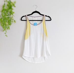 (Free People) NWT Intimate Tank Yellow White Small